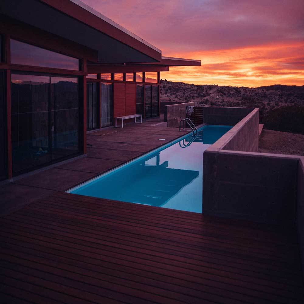 Pool with a deck